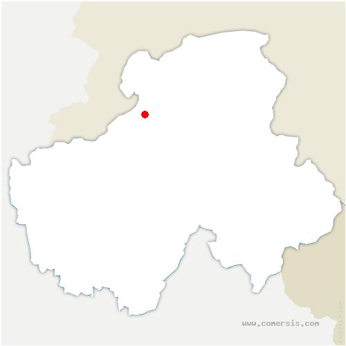 carte de localisation de Cranves-Sales