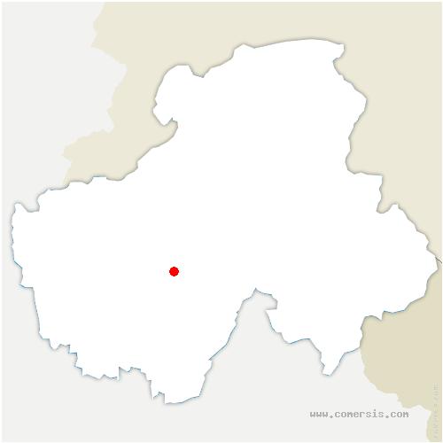 carte de localisation de Dingy-Saint-Clair