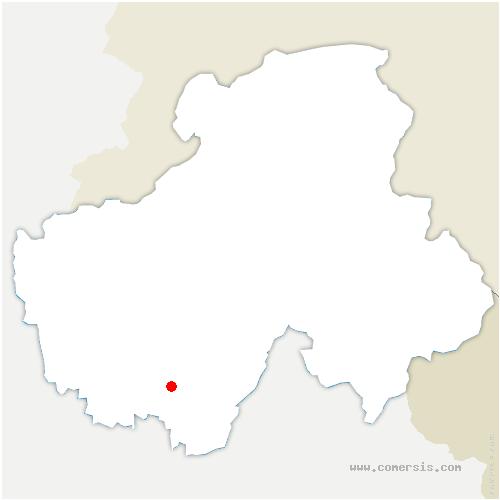 carte de localisation de Duingt