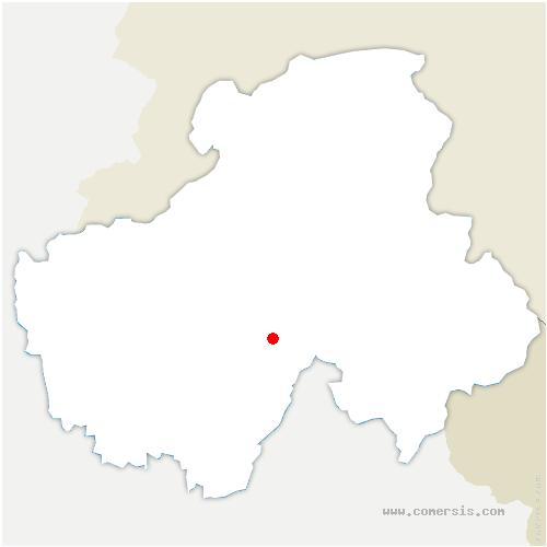 carte de localisation de Entremont