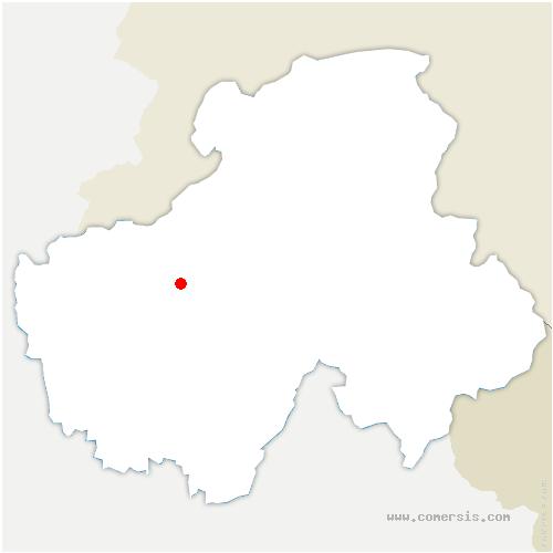 carte de localisation de Évires