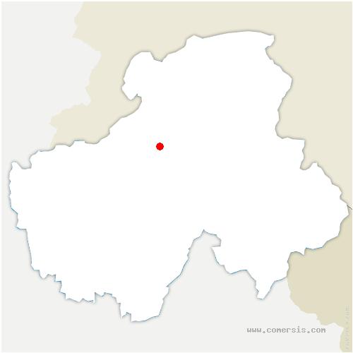 carte de localisation de Faucigny