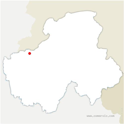 carte de localisation de Feigères