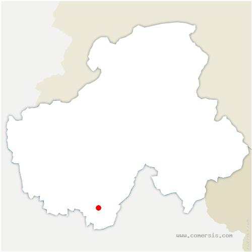carte de localisation de Giez