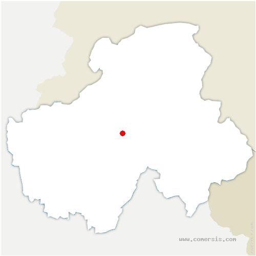 carte de localisation de Glières-Val-de-Borne