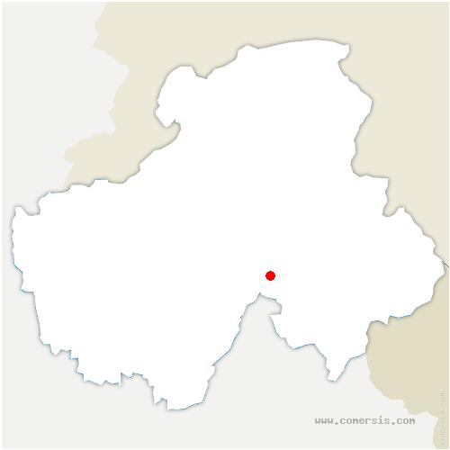 carte de localisation de Grand-Bornand