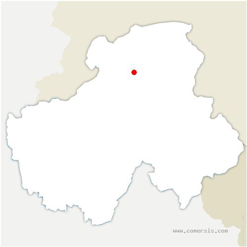 carte de localisation de Habère-Lullin
