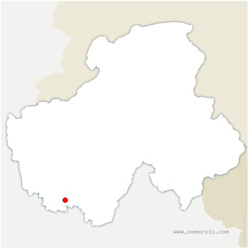 carte de localisation de Leschaux