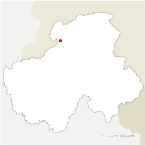 carte de localisation de Machilly