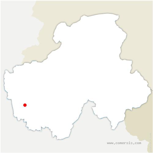 carte de localisation de Marcellaz-Albanais