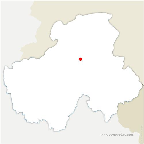 carte de localisation de Marignier