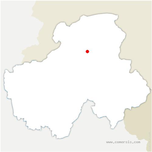 carte de localisation de Mégevette