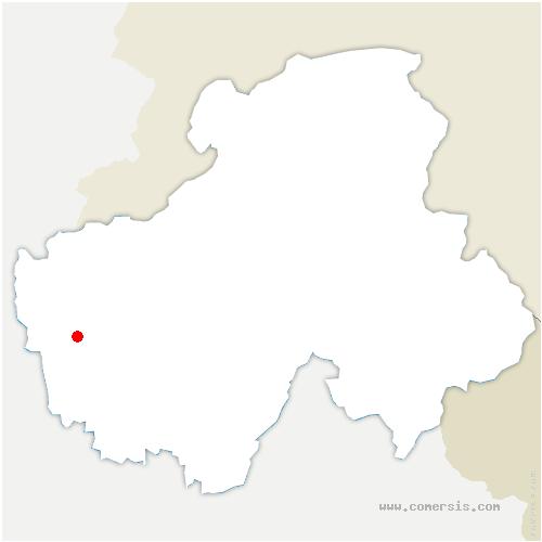 carte de localisation de Menthonnex-sous-Clermont