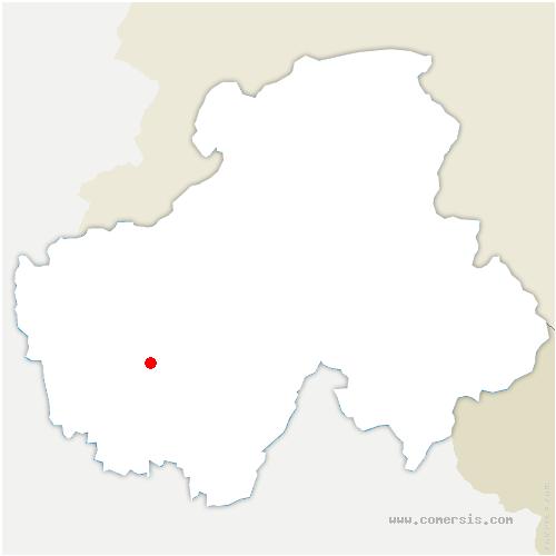 carte de localisation de Metz-Tessy