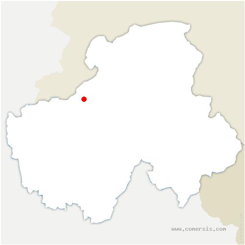 carte de localisation de Monnetier-Mornex