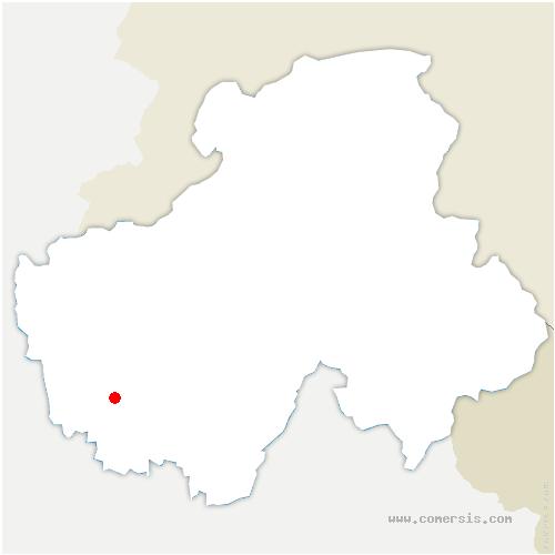 carte de localisation de Montagny-les-Lanches
