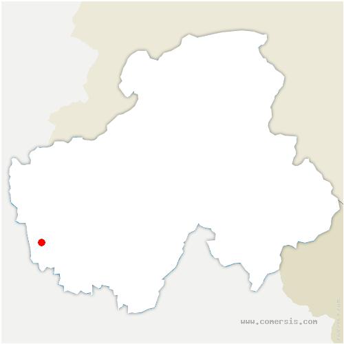 carte de localisation de Moye