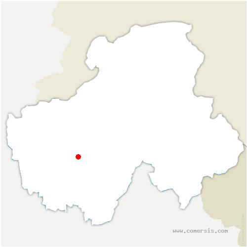 carte de localisation de Nâves-Parmelan