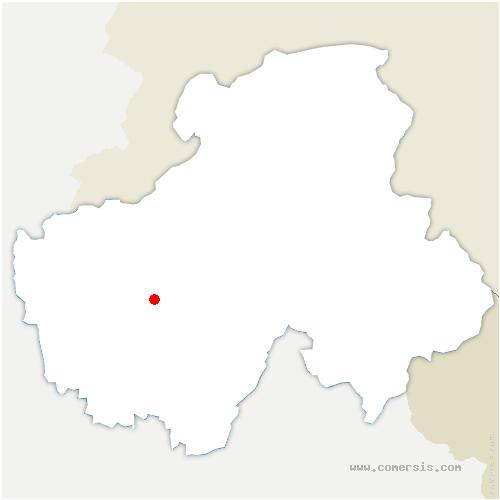 carte de localisation de Ollières