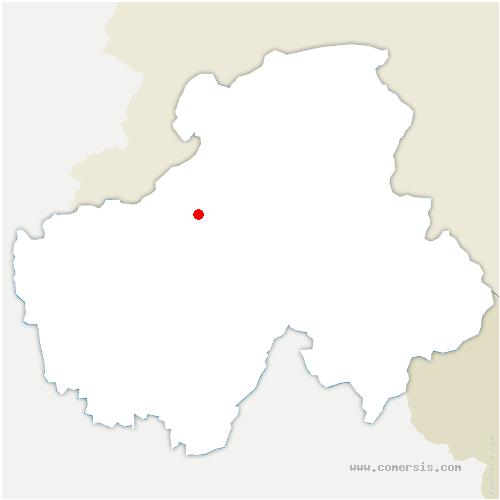 carte de localisation de Pers-Jussy