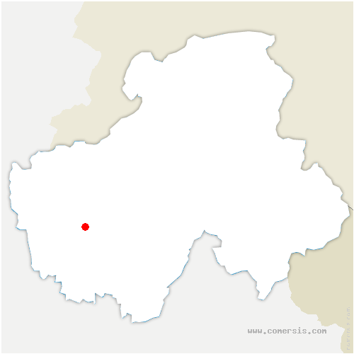 carte de localisation de Poisy