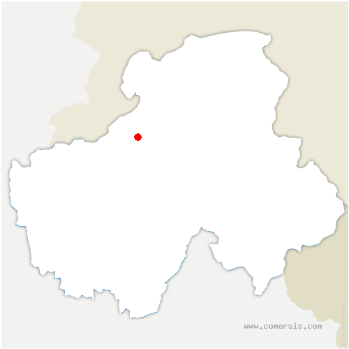 carte de localisation de Reignier-Esery