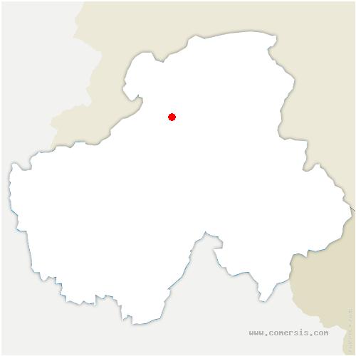 carte de localisation de Saint-André-de-Boëge