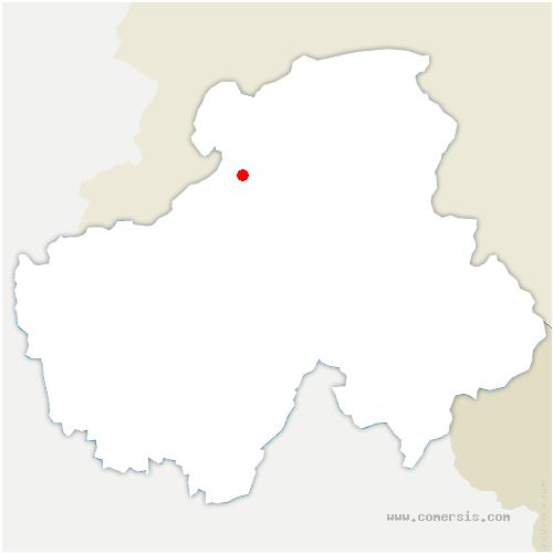 carte de localisation de Saint-Cergues