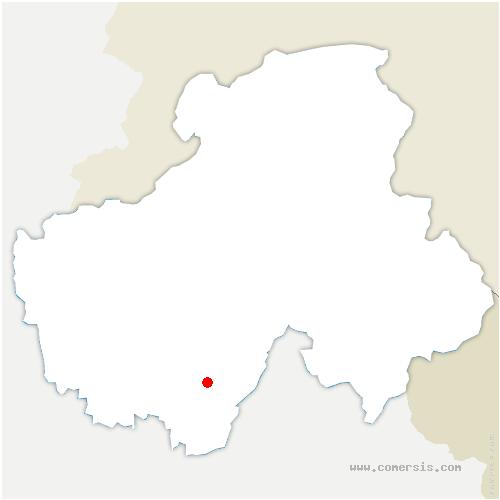 carte de localisation de Saint-Ferréol