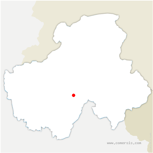 carte de localisation de Saint-Jean-de-Sixt