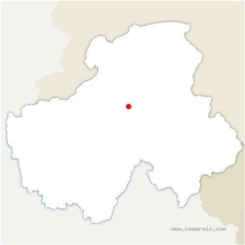 carte de localisation de Saint-Jean-de-Tholome