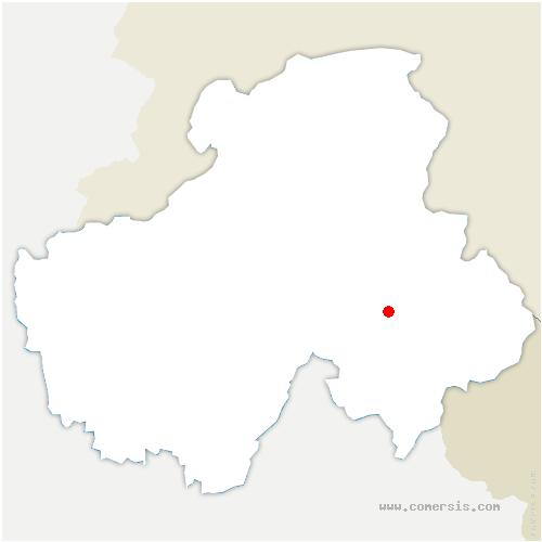 carte de localisation de Sallanches