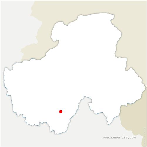 carte de localisation de Serraval