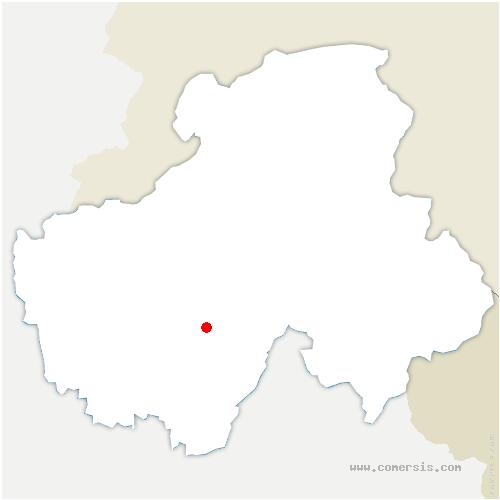 carte de localisation de Thônes