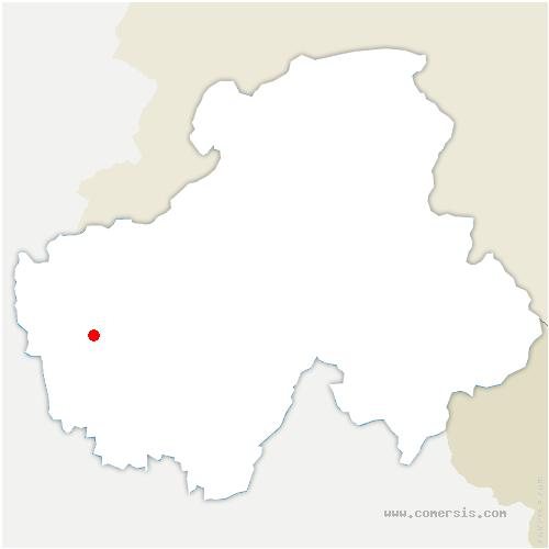 carte de localisation de Thusy