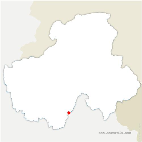 carte de localisation de Val-de-Chaise