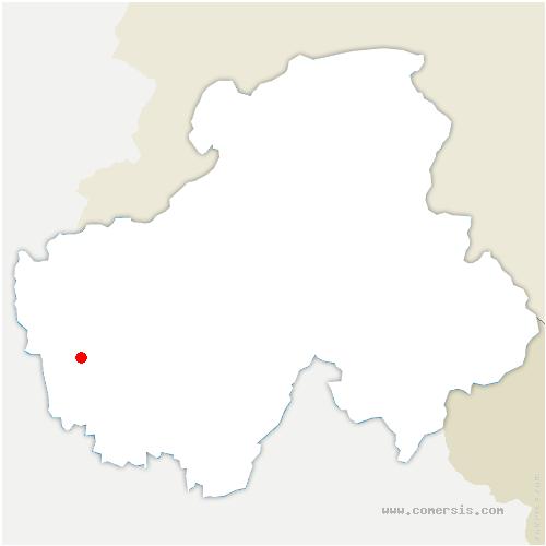 carte de localisation de Vallières-sur-Fier