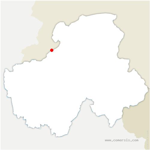 carte de localisation de Ville-la-Grand