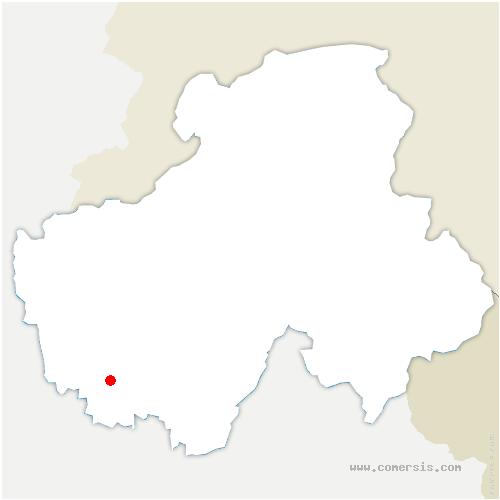 carte de localisation de Viuz-la-Chiésaz