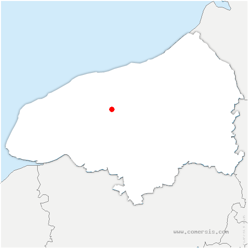carte de localisation de Amfreville-les-Champs