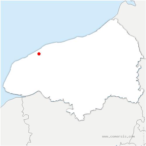 carte de localisation de Ancretteville-sur-Mer