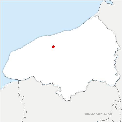 carte de localisation de Anglesqueville-la-Bras-Long