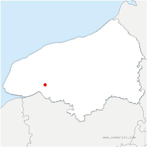 carte de localisation de Auberville-la-Campagne
