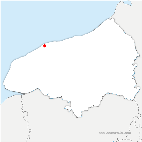 carte de localisation de Auberville-la-Manuel