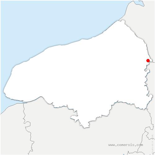 carte de localisation de Aumale