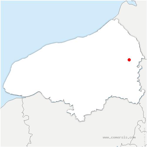 carte de localisation de Auvilliers
