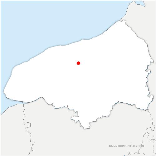 carte de localisation de Auzouville-sur-Saâne
