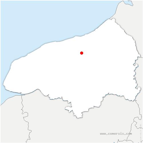 carte de localisation de Bacqueville-en-Caux