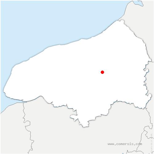 carte de localisation de Beaumont-le-Hareng