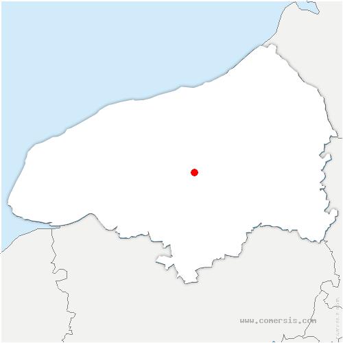 carte de localisation de Beautot